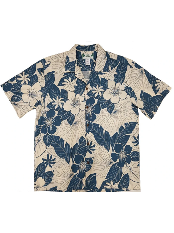 Two Palms- Lanai blue cotton mens shirt