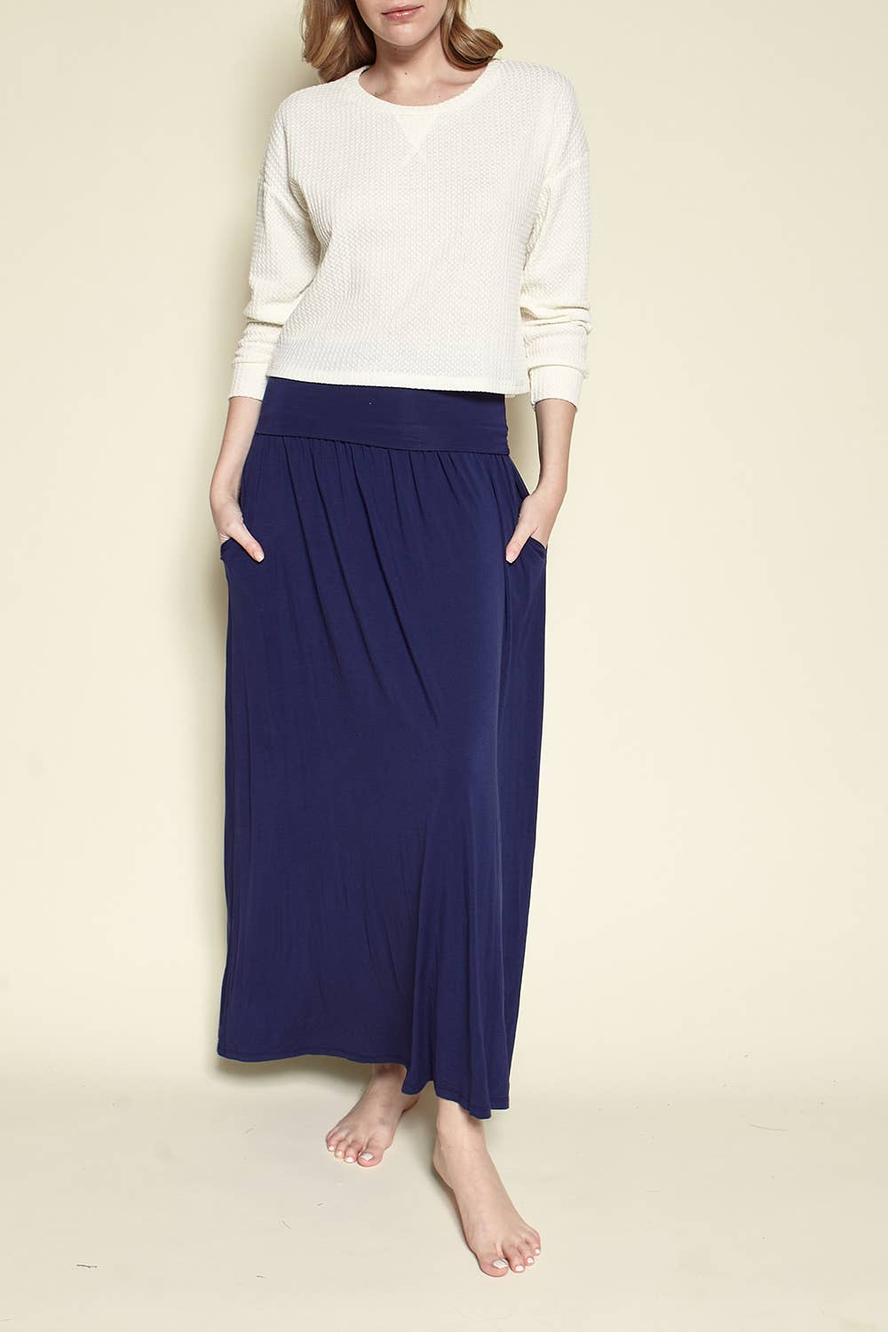 Studio Ko Clothing - BAMBOO YOGA MAXI SKIRT
