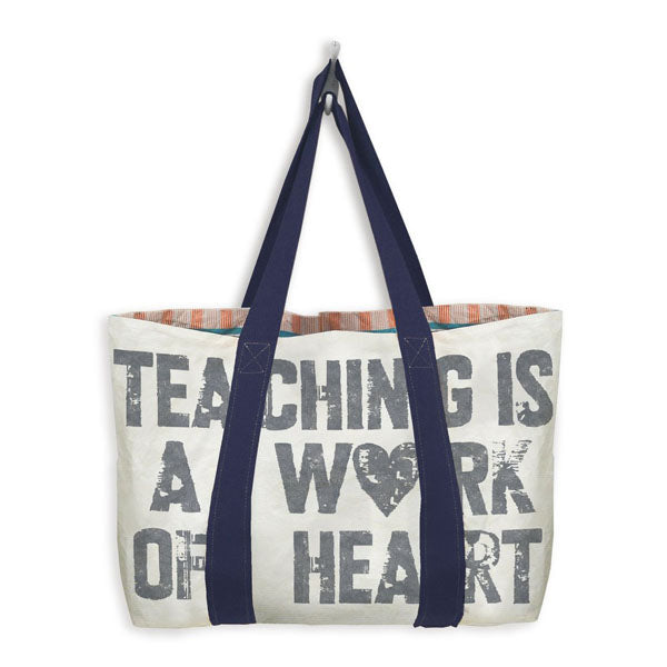 MIXT Studio - Teaching is a Work of Heart Reversible Tote