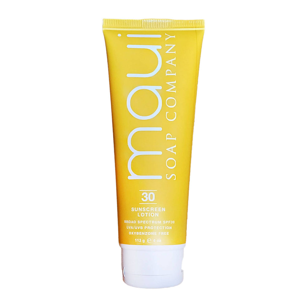 Maui Soap Co. - Water Resistant Coconut Sunscreen Lotion – SPF30