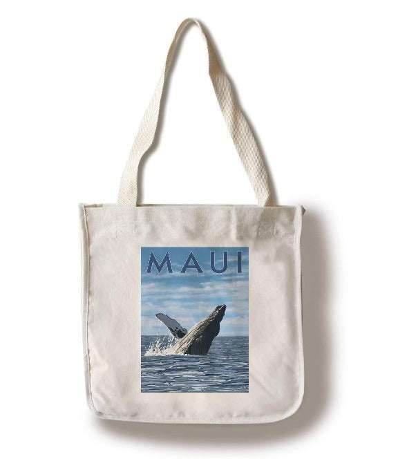 Lantern Press - Maui Hawaii Humpback Whale Tote
