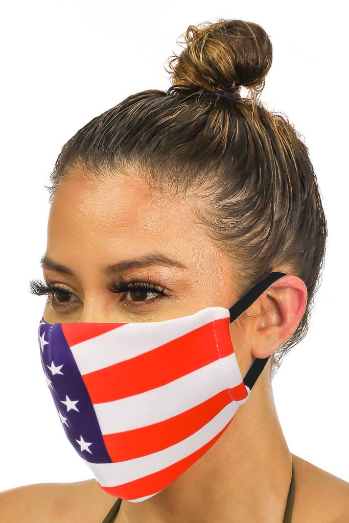 Fame Accessories - American Flag Face Mask
