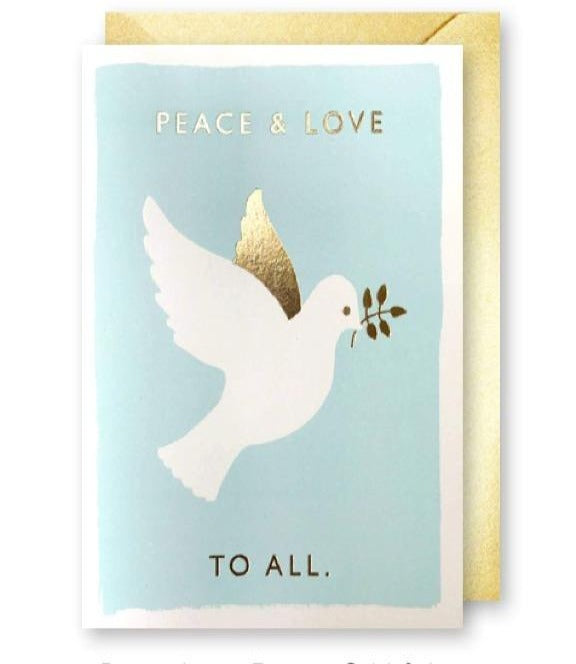 J.Falkner Cards - Peace Love Dove Card