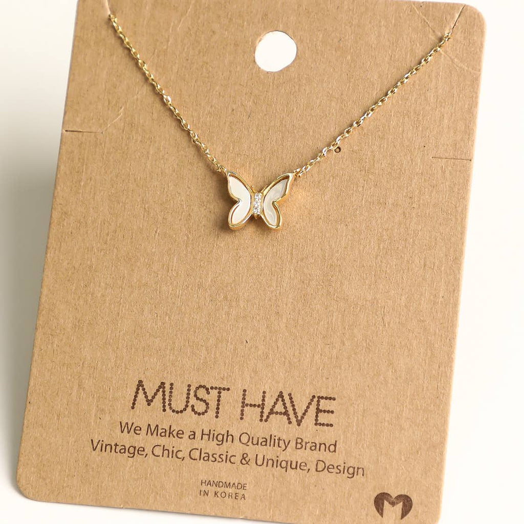 Fame Accessories - Butterfly Pendant Necklace