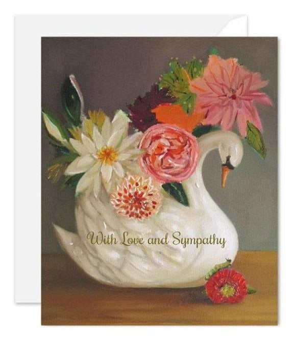 Janet Hill Studio - Love And Sympathy Swan Card
