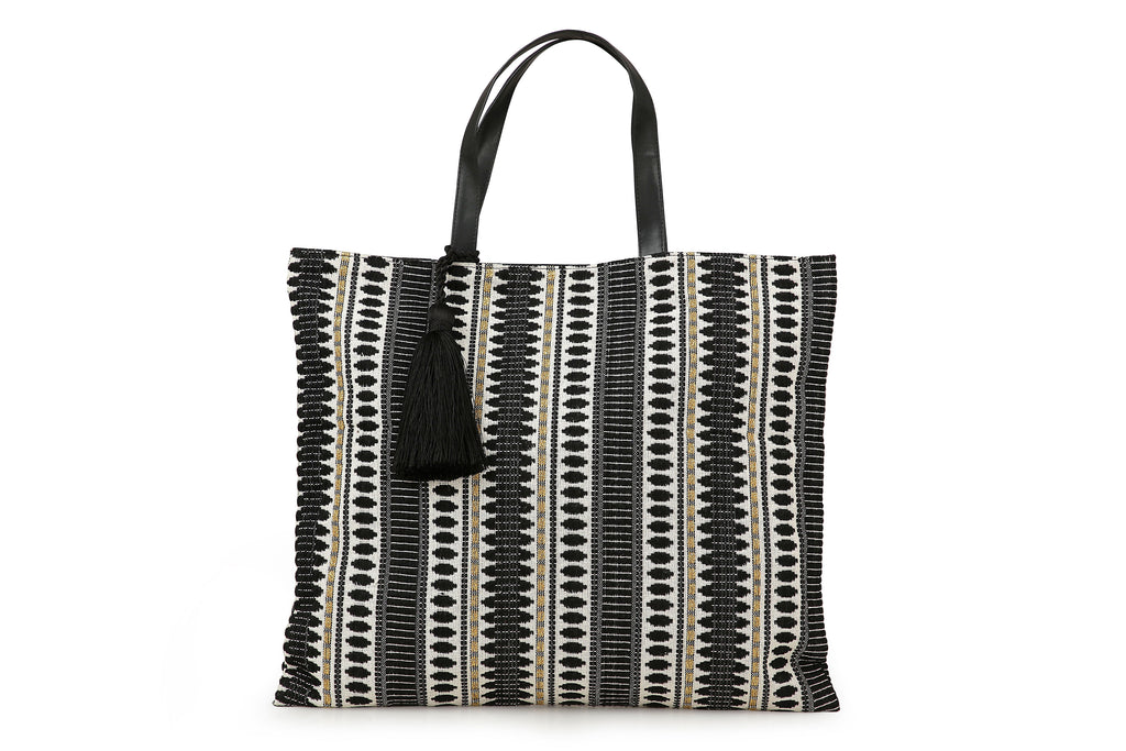 Casa Amarosa - Tote bag, Black Etoie- 18 x 15.5 Inches