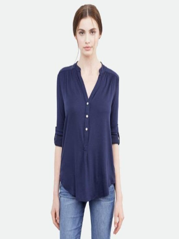 Elena Henley navy top