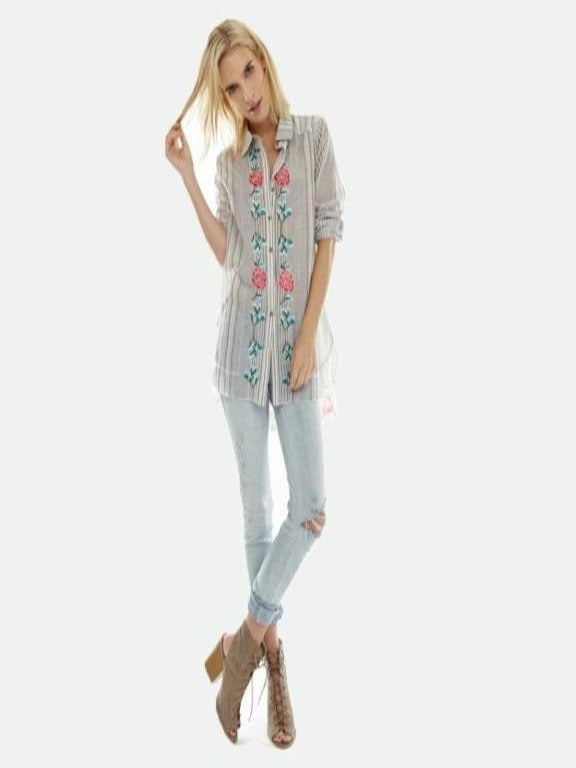 Aratta- Daisy button down shirt