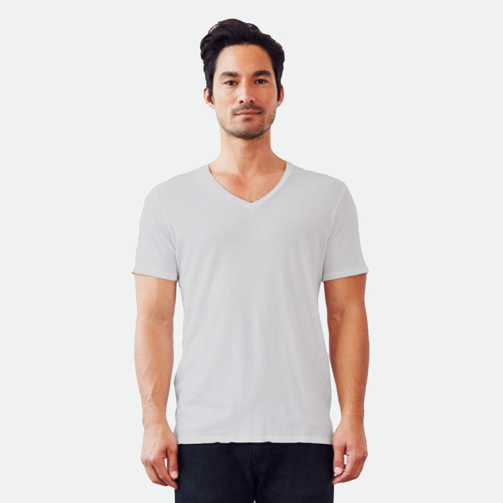 Groceries Mens V-neck grey tee