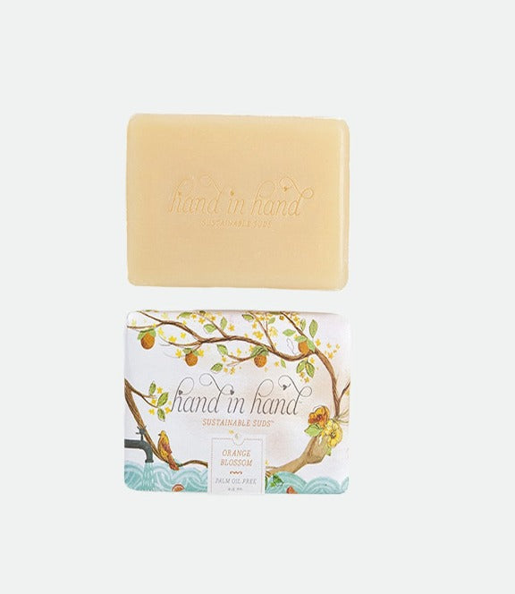 Hand in Hand- Orange Blossom triple Milled Bar Soap