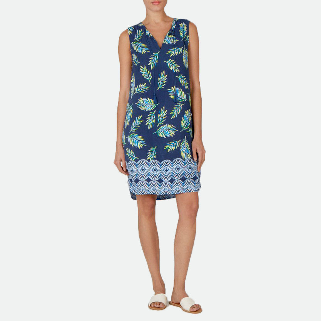 Kayla Midnight Palms tunic