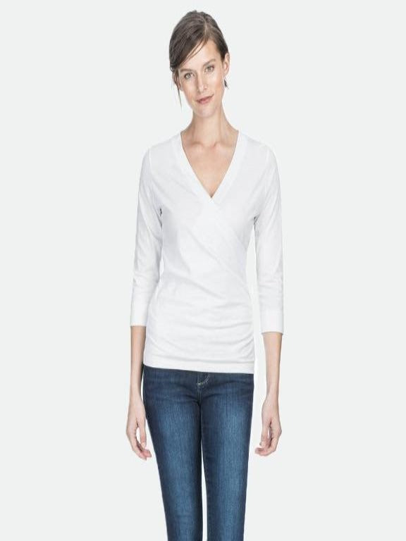 Pima Jersey Surplice top