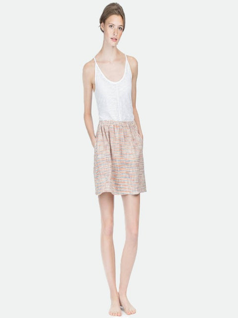 Woven pull on skirt