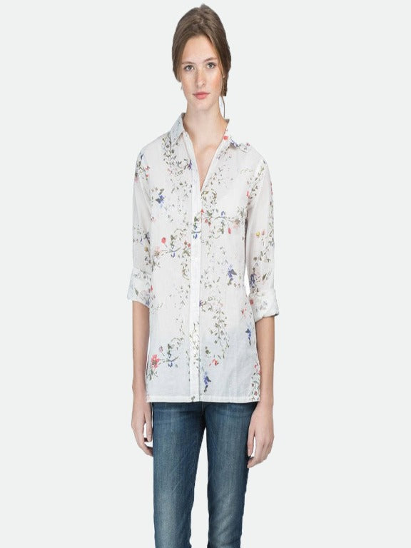 Lilla P- Vintage floral button down shirt