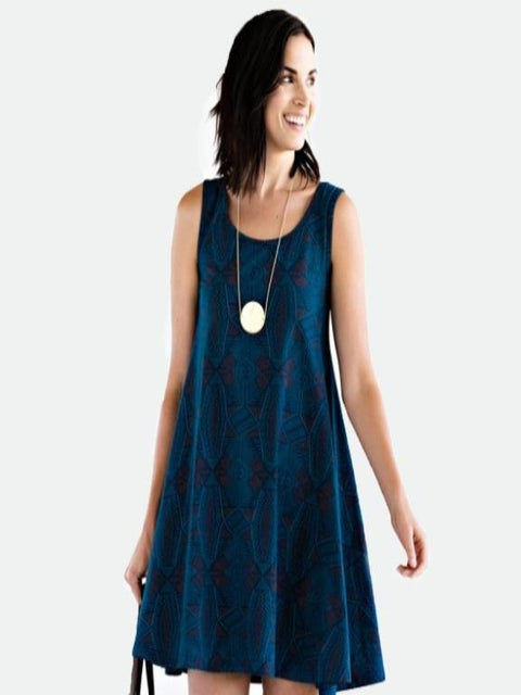 Mata Traders- Bellini teal dress