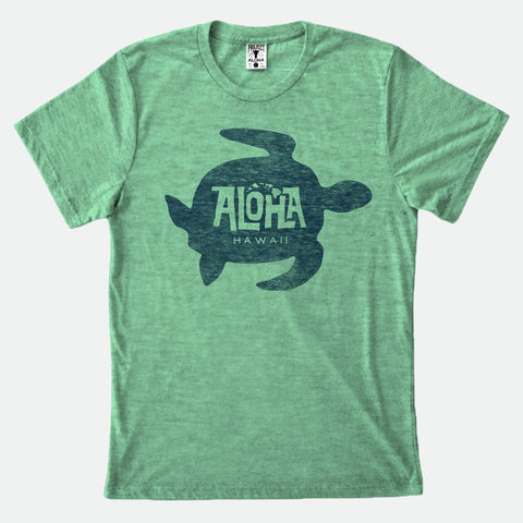Honu Green Heather tee