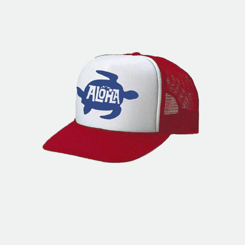 Honu Red Trucker hat