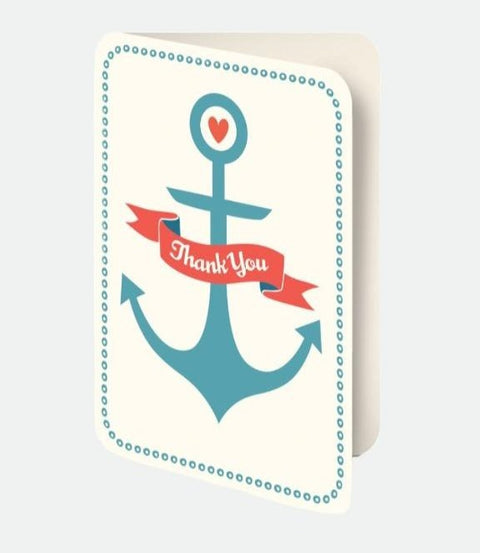Nautical- Thank you card set