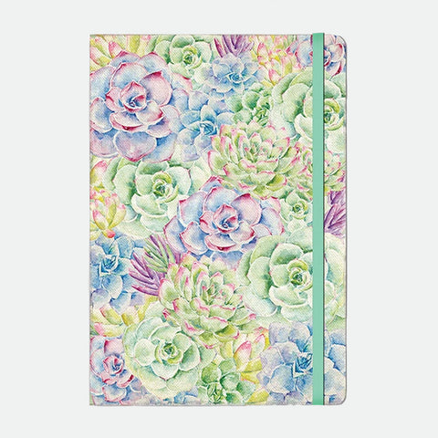 Succulents compact journal