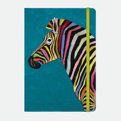 Rainbow Zebra compact journal