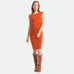 Column Dress in Burnt Orange