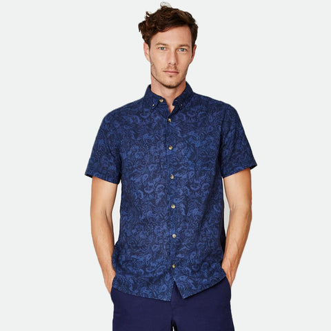 Engravers Navy Hemp Shirt