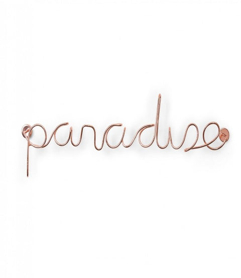 Paradise wire wall decor