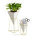 Trigg white gold vase