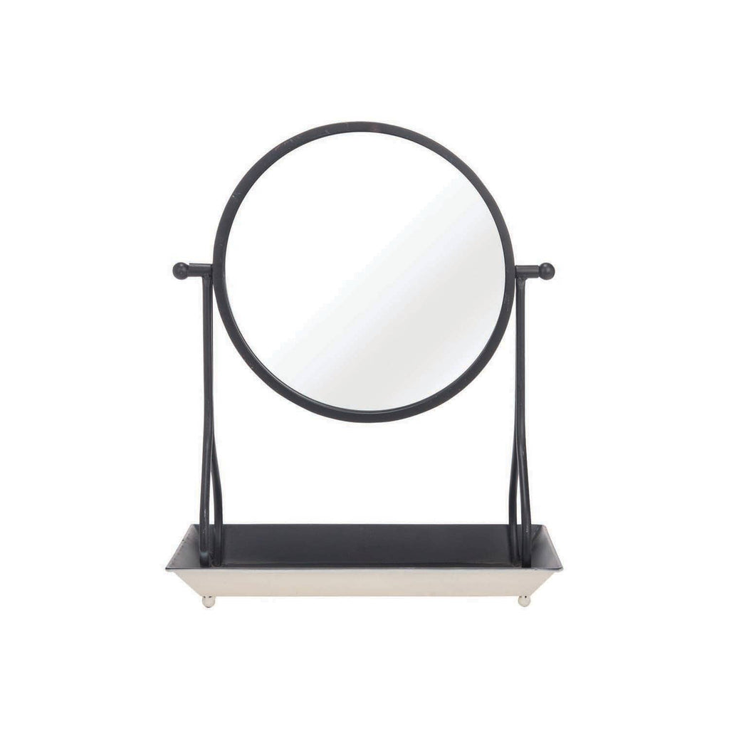 Foreside Home & Garden - Tabletop Mirror With Tray