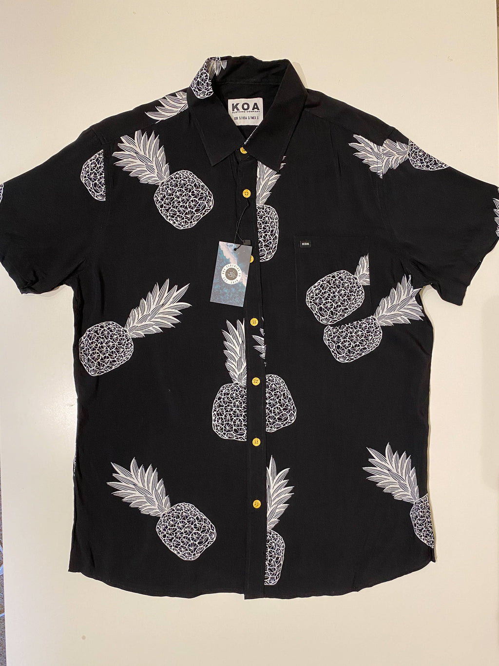 KOA Clothing Company - Classic Black Pineapple Shirt