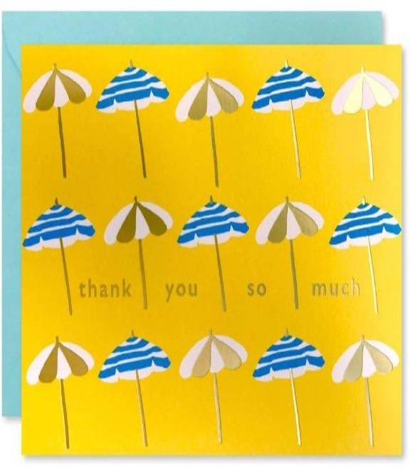J.Falkner Cards - Thank You Sun Umbrellas