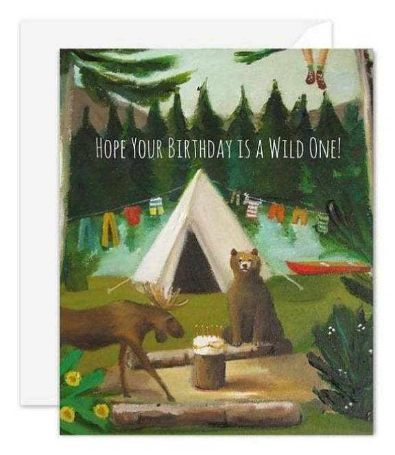 Janet Hill Studio - Wild Birthday Card