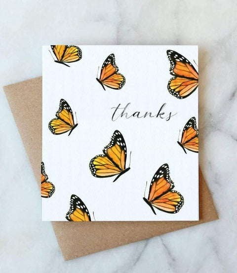 Abigail Jayne Design - Butterfly Thanks Card