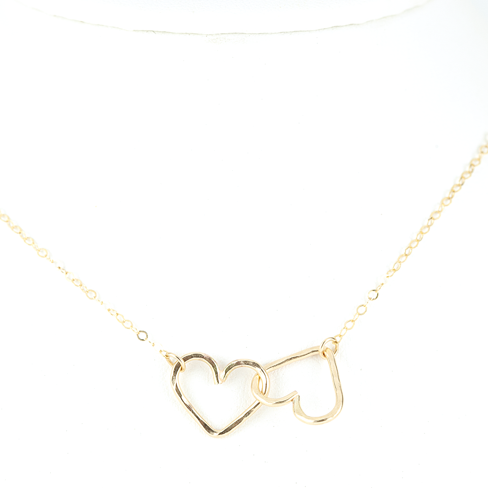 Midori Jewelry Hawaii - aloha (heart) necklace - gold