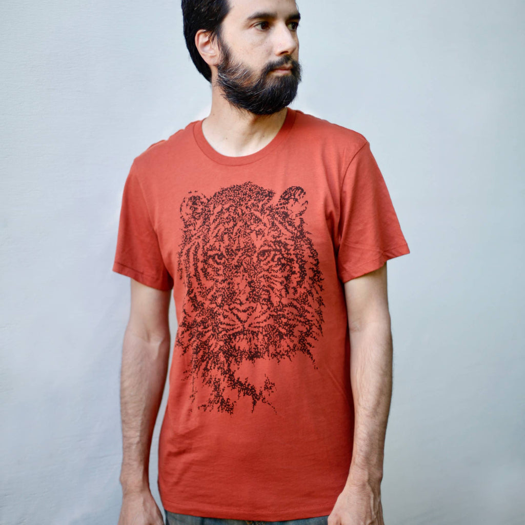 Blackbird Supply Co. - Easy Tiger Animal Print Organic Cotton Tee Burnt Orange