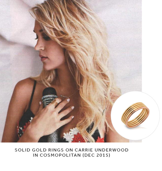 carrie underwood cosmopolitan solid gold rings shylee rose jewelry