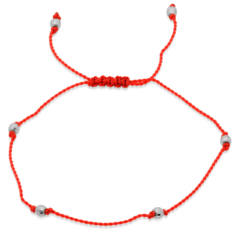 red evil bracelet hamsa and eye string silver necklace