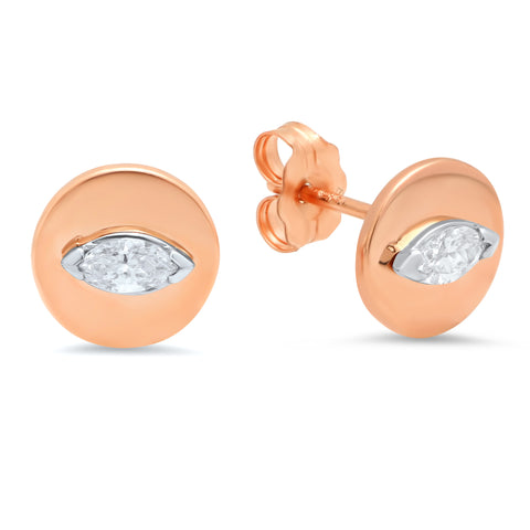 Marquise Disc Studs