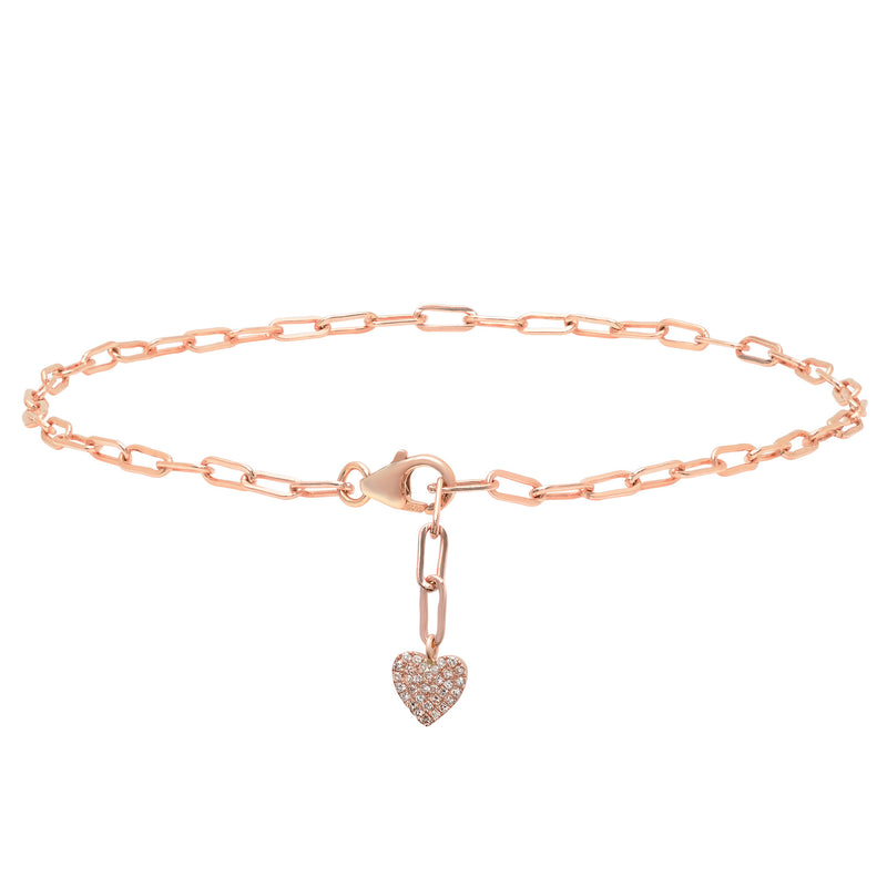 Diamond Heart Anklet