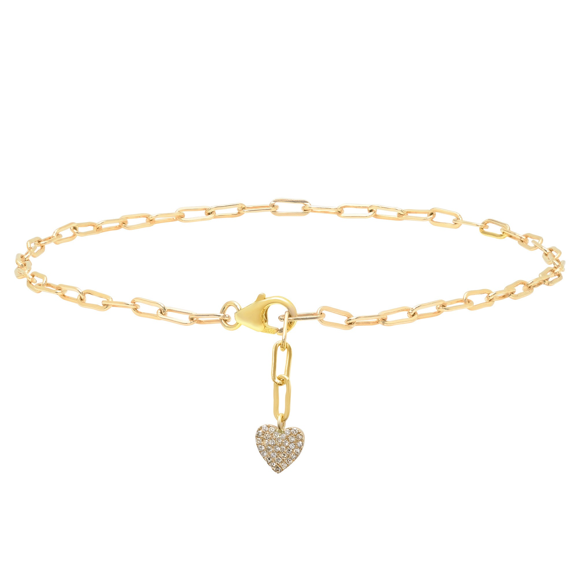 gold itm for bracelet anklet women and diamond w heart girls fine