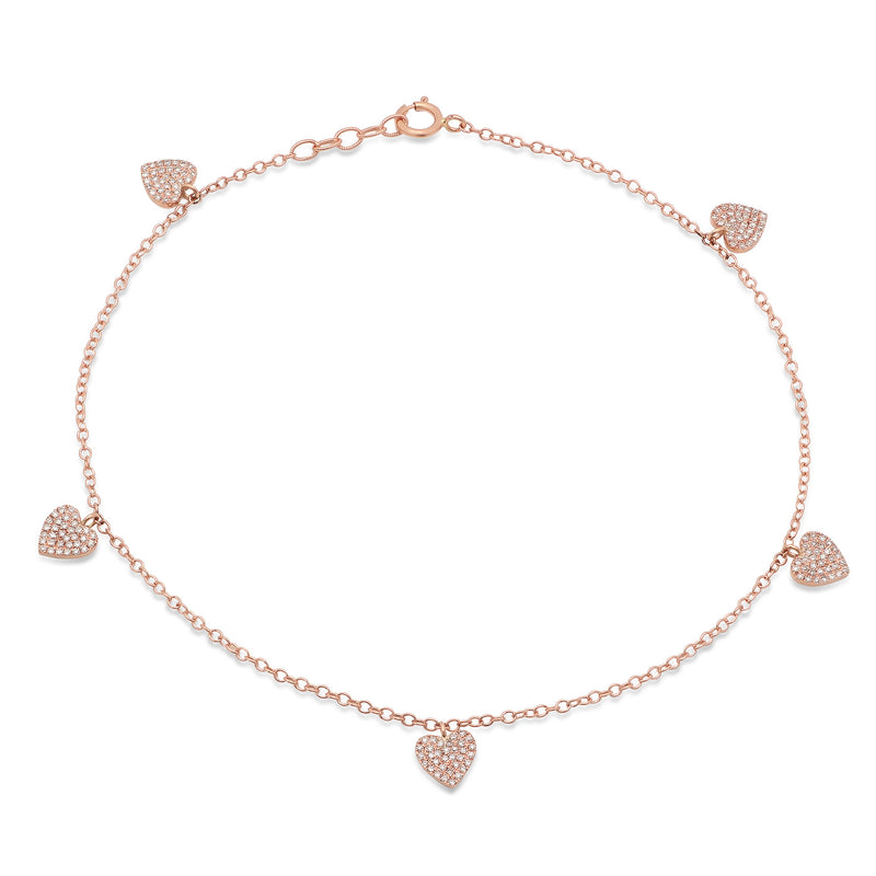 jewelry madrid heart p anklet bracelet s hand zeuner mia womens yellow mini diamond gold women chain rose jennifer