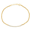 14K gold Anklet with Pearl center