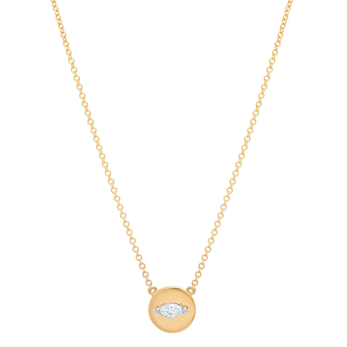 Mini Marquise Disc Necklace