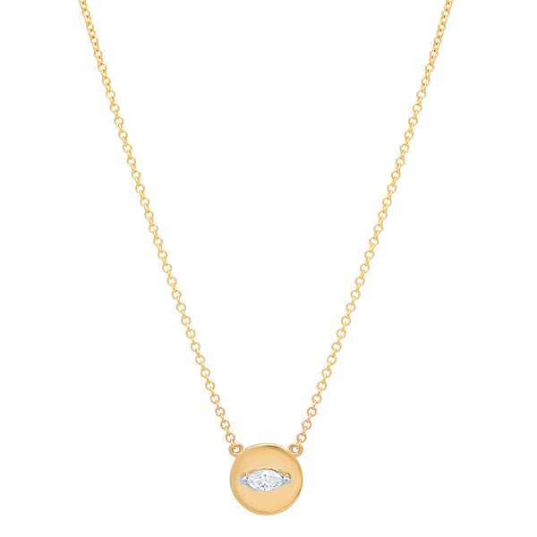 Baby Marquise Disc necklace