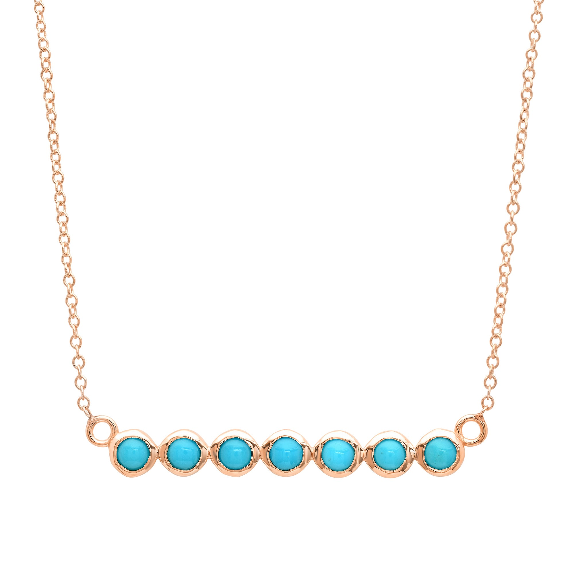 7 Turquoise Stone Bar Necklace