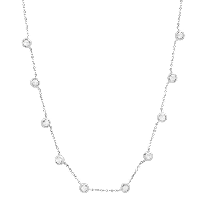 10 Diamond Bezel Necklace