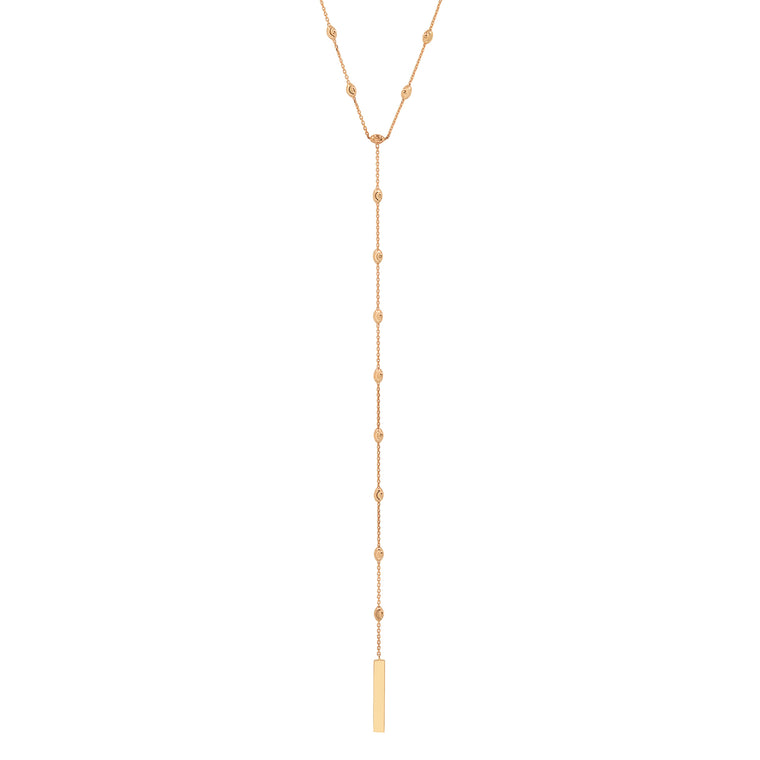 Diamond Cut Beaded Lariat