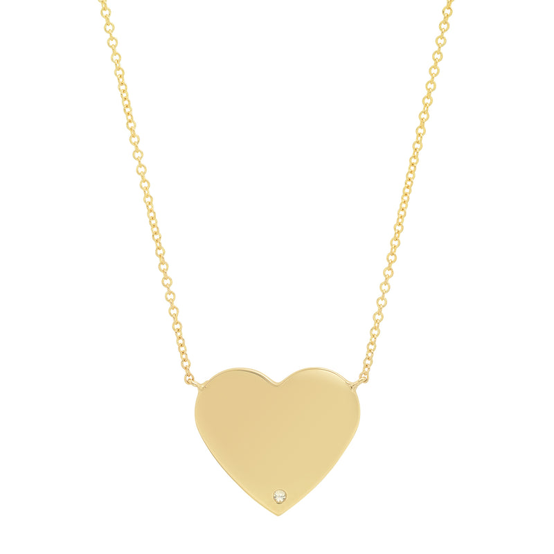 MS X SRJ Single Diamond Heart Necklace
