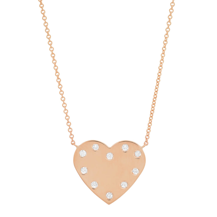 MS X SRJ Diamond Frame Heart Necklace