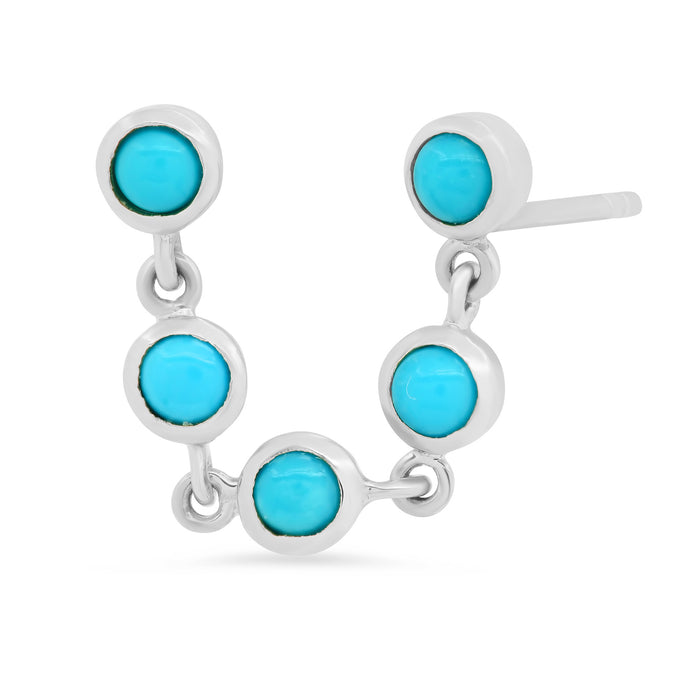 Double Pierce Turquoise Earrings
